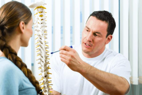 chiropractor with a patient